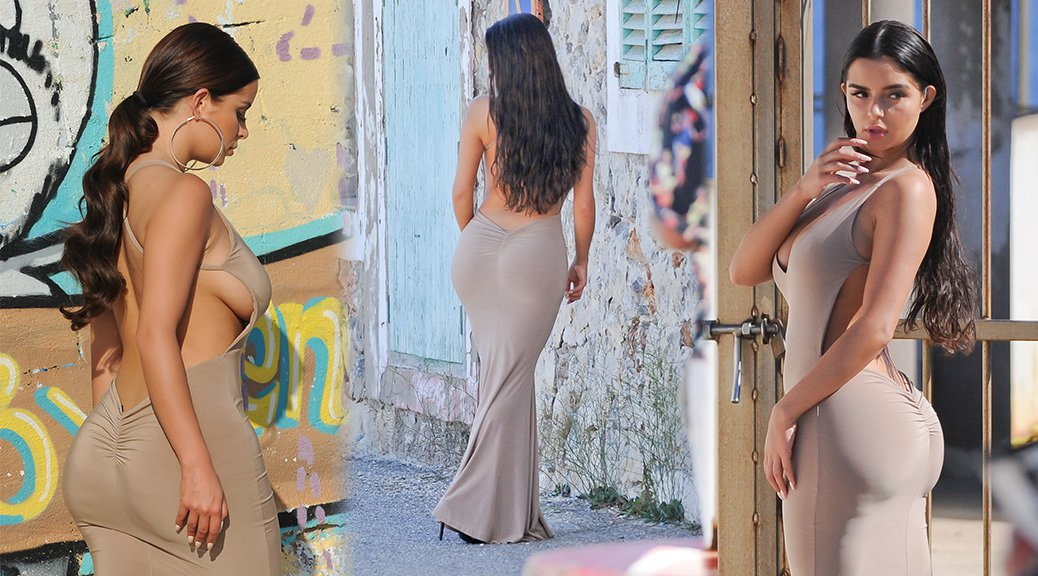 Demi Rose Mawby - Photoshoot Candids in Ibiza