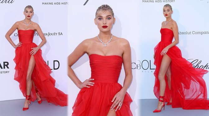 Elsa Hosk – amfAR's 25th Cinema Against AIDS Gala in Cannes