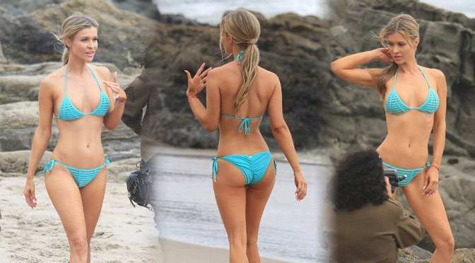 Joanna Krupa – Bikini Photoshoot Candids in Malibu