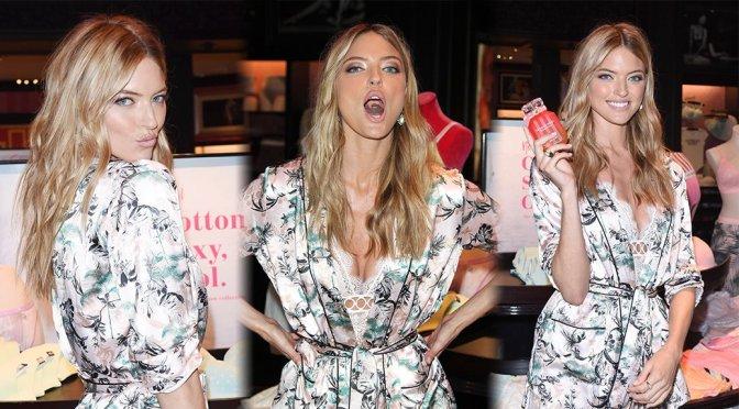 Martha Hunt – Victoria's Secret T-Shirt Bra Cotton Collection Launch