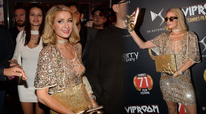 Paris Hilton – VIP Room at the 71st Cannes Film Festival