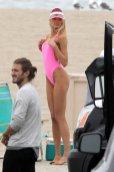 Romee Strijd Pink Swimsuit