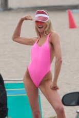 Romee Strijd Pink Swimsuit