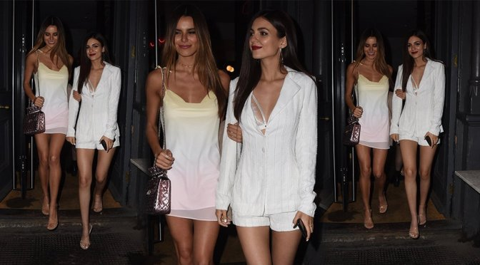Victoria Justice & Madison Reed – Leggy Candids in London
