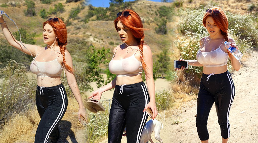 Courtney Stodden - Braless See-Through Candids in Hollywood Hills