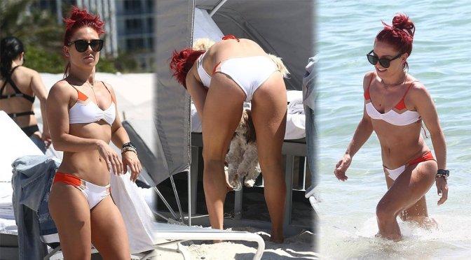 Sharna Burgess – Bikini Candids in Miami Beach