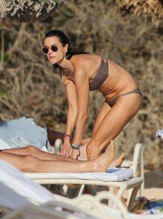 Alessandra Ambrosio Bikini In Ibiza