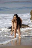 Claudia Alende Bikini Nipple Slip