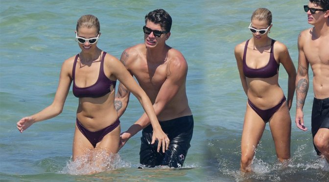 Hailey Clauson – Bikini Candids in Miami