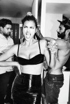 Irina Shayk Sexy Cleavage in Black Bra