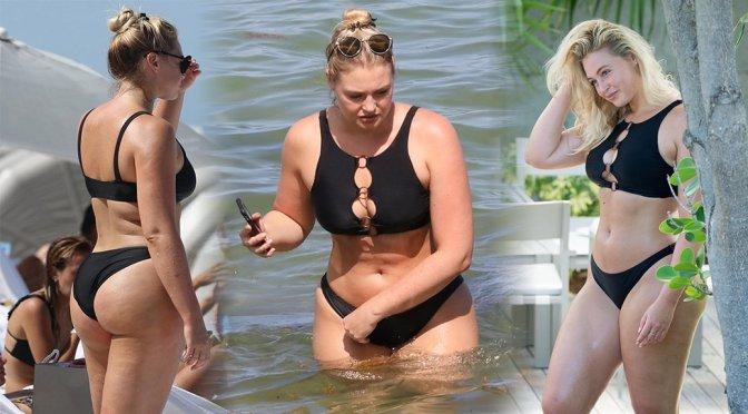 Iskra Lawrence – Bikini Candids in Miami Beach