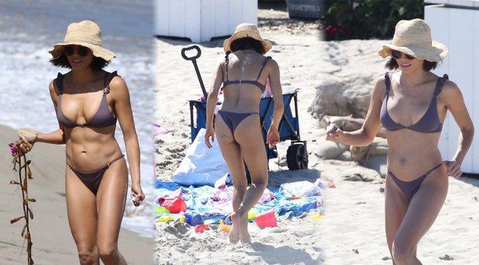 Jenna Dewan Tatum – Bikini Candids in Malibu