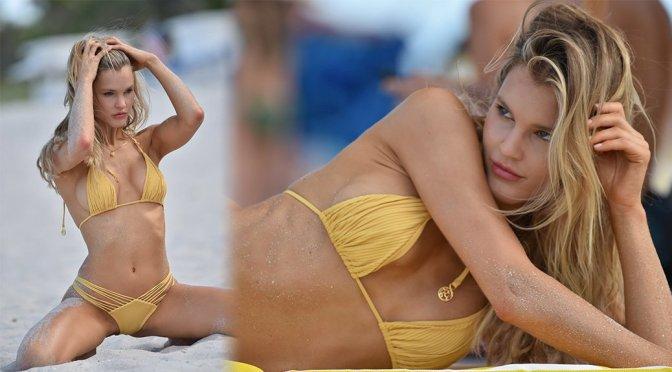 Joy Corrigan – Bikini Photoshoot Candids in Miami Beach
