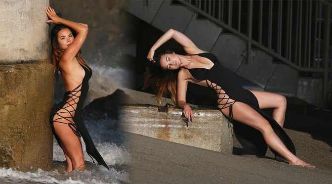"Kaili Thorne – ""138 Water"" Photoshoot in Malibu"