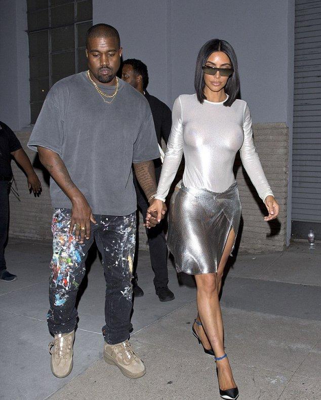 Kim Kardashian Braless See Through