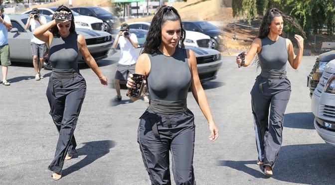 Kim Kardashian Braless Sexy Boobs