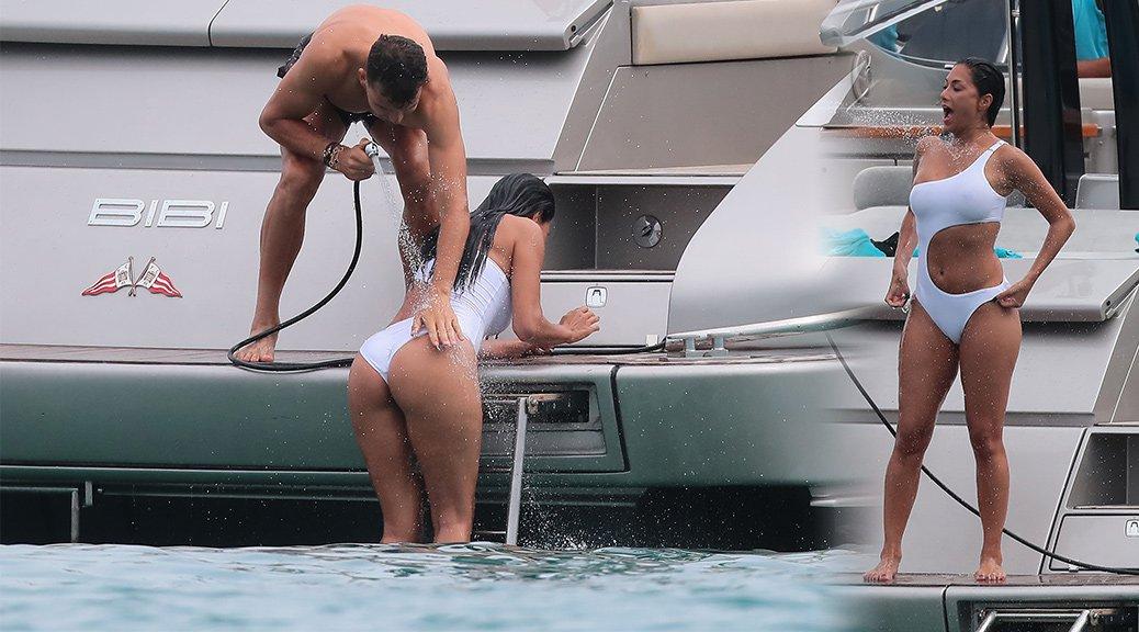 Nicole Scherzinger - Swimsuit Candids in Saint Tropez