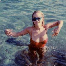 Rita Ora Swimsuit Nipslip