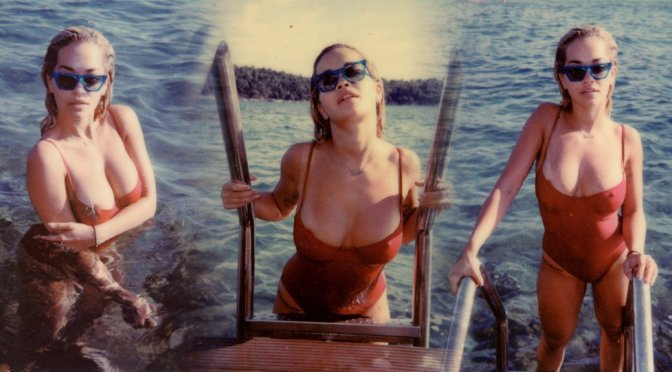 Rita Ora – Swimsuit Nipslip Photoshoot in Croatia
