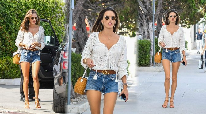 Alessandra Ambrosio – Leggy Candids in Beverly Hills