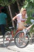 Ashley Tisdale White Bikini In Tulum