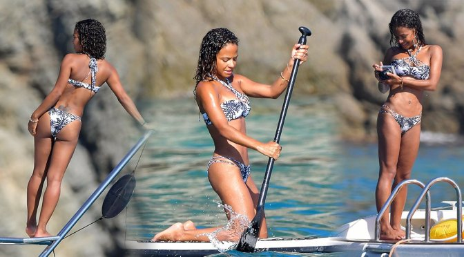 Christina Milian – Bikini Candids in St. Tropez