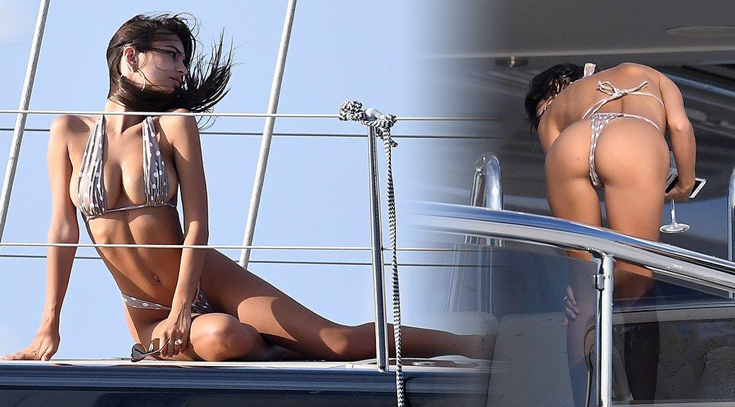 Emily Ratajkowski - Bikini Candids in Sardinia