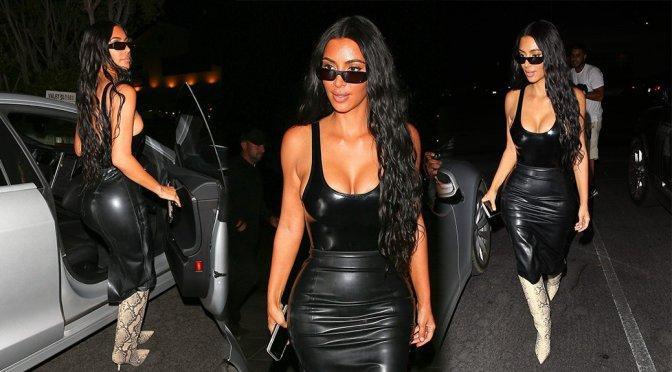 Kim Kardashian – Cleavage Candids in Beverly Hills