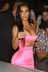 Kim Kardashian At Kylies Birthday Party