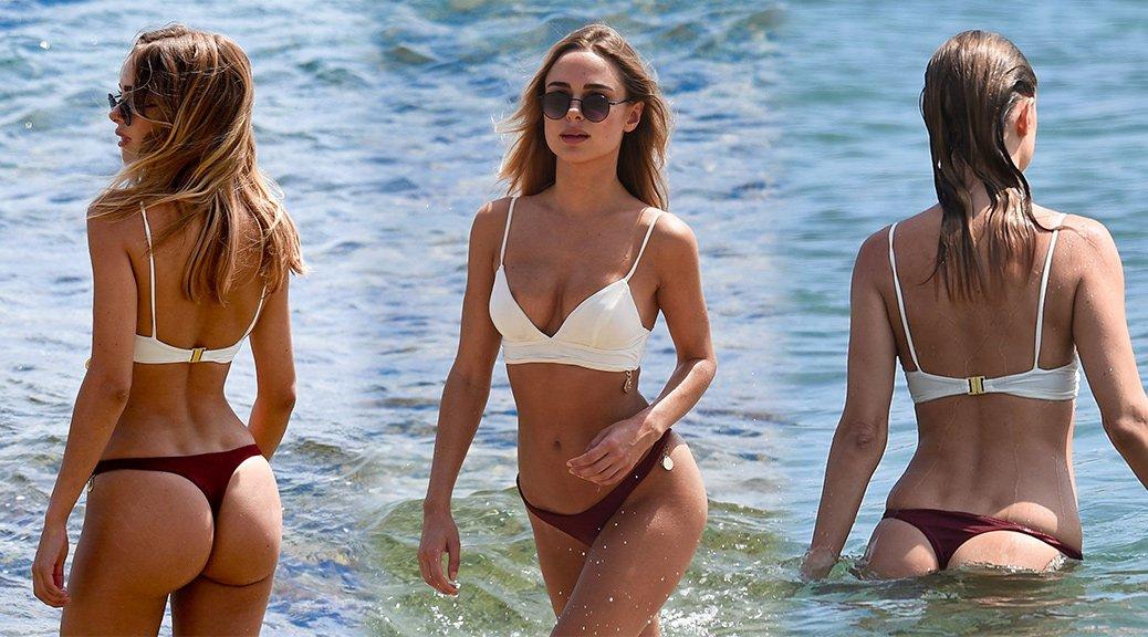 Kimberley Garner - Bikini Candids in Mykonos