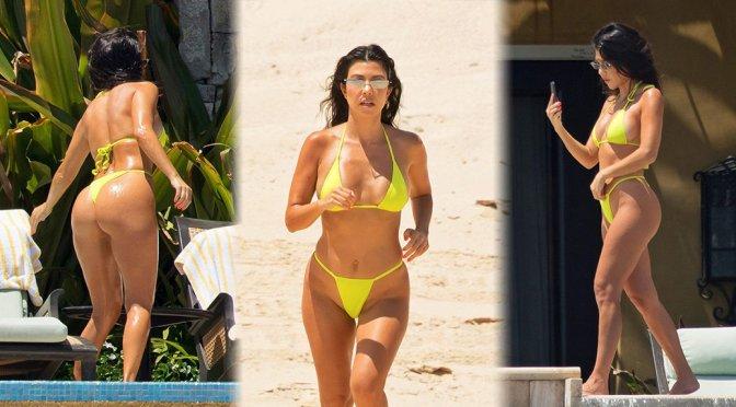 Kourtney Kardashian Big Ass In Tiny Bikini