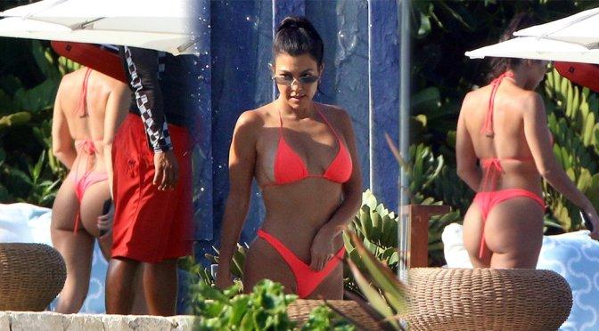 Kourtney Kardashian – Bikini Candids in Los Cabos
