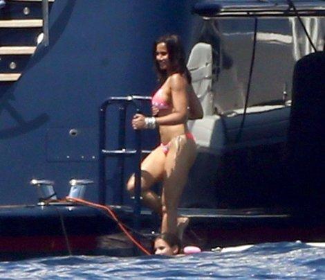 Padma Lakshmi Bikini Candids In Capri