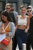 Bella Hadid Braless In Milan