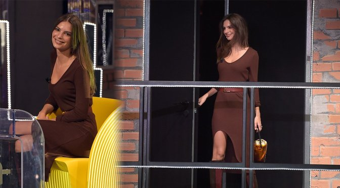 "Emily Ratajkowski on ""EPCC"" Italian TV Show in Milan"