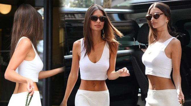 Emily Ratajkowski Sexy Boobs And Tummy