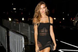Josephine Skriver Sexy Black Dress