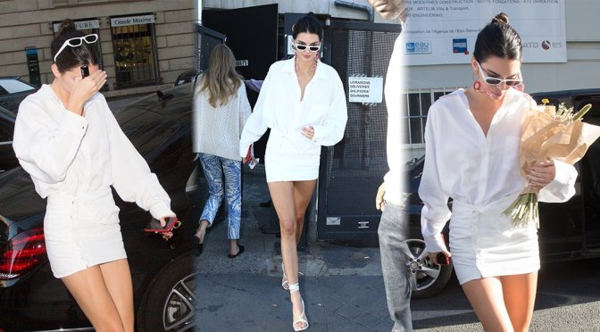 Kendall Jenner Sexy In White