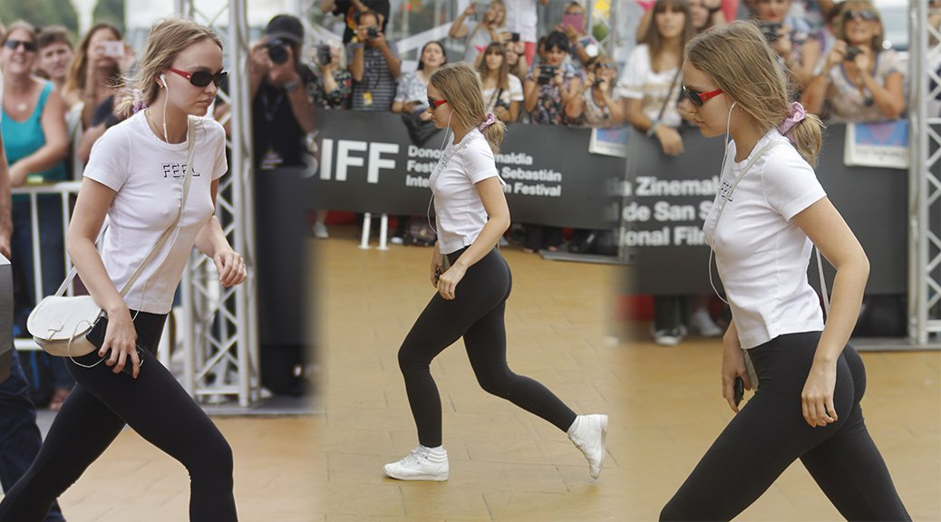 Lily-Rose Depp - Ass Candids in San Sebastian