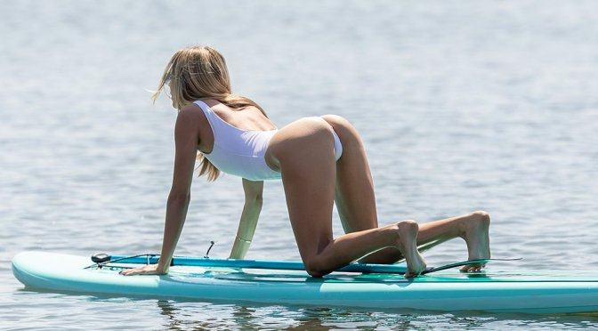 Rachel McCord – Swimsuit Candids in Santa Monica