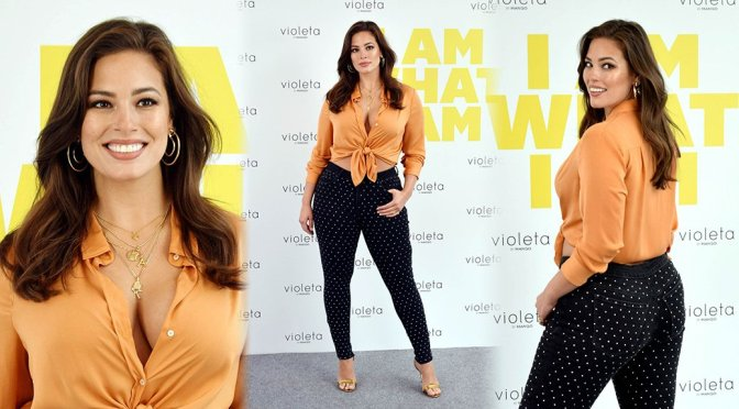 Ashley Graham – Mango Clothes New Line Promotion in Madrid