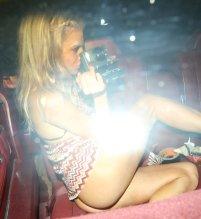 Charlotte Mckinney Exposing Ass In Thong Panties