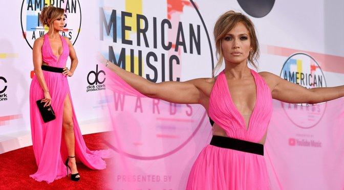 Jennifer Lopez Sexy Low Cut Dress