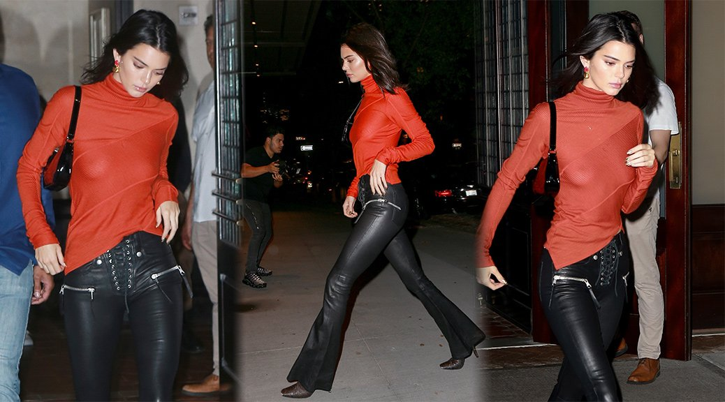 Kendall Jenner - Braless at Bella Hadid's Birthday Party