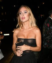 Kimberley Garner Sexy Boobs In Sheer Dress