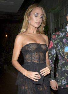 Kimberley Garner Sexy Boobs In Sheer Dress