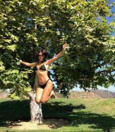 Kourtney Kardashian Black Bikini