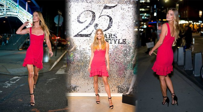 Nina Agdal – Intermix 25th Anniversary Party in New York