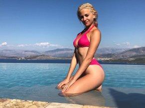 Pixie Lott Pink Bikini