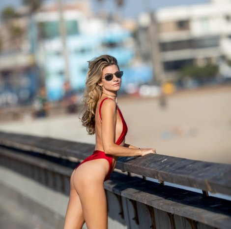 Rachel Mccord Sexy Red Swimsuit